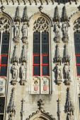 Closeup view at the Town Hall in Bruges  — Stock fotografie