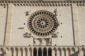Closeup of Assisi Cathedral — Stockfoto