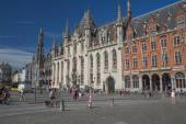 The Market Square in Bruges — Stock Photo