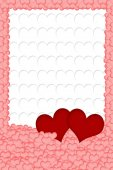Hearts background vertically. — Stock Photo