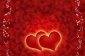 Hot red hearts for all love. — Stockfoto