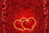 Hot red hearts for all love. — Stok fotoğraf