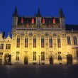 The Town Hall in Bruges at night (Belgium) — Stock Photo #63974167