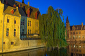 Night view of the Old Town of Bruges — Stock Photo