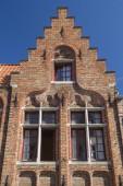 Gamla tegelhus i Brygge (Flandern, Belgien) — Stockfoto