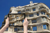 Concept of Barcelona Architecture — Stok fotoğraf