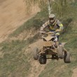 Постер, плакат: Quad racer is high jumping Horizontally