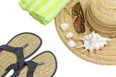 Equipment for summer vacations  isolated — Stock Photo