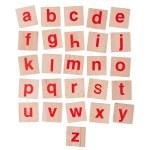 Wooden alphabet blocks isolated on white — Stock Photo #51951807