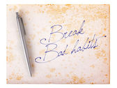 Old paper grunge background - Break bad habits — Foto Stock