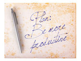 Old paper grunge background - Be more productive — Stock Photo