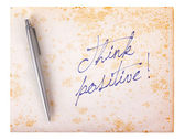 Old paper grunge background - Think positive — ストック写真