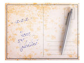 Old paper postcard - xxx your valentine — Stock Photo