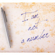 Old paper grunge background - I am not a number — Stock Photo #52325687