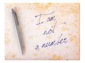 Old paper grunge background - I am not a number — Stock Photo