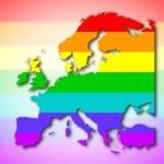Europe - Rainbow flag pattern — Stock Photo #52506175