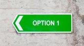 Green sign - Option 1 — Stock Photo