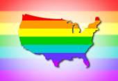 USA - Rainbow flag pattern — Stock Photo