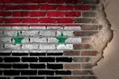 Dark brick wall with plaster - Syria — Foto de Stock