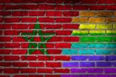 Dark brick wall - LGBT rights - Morocco — Stock Photo