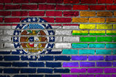 Dark brick wall - LGBT rights - Missouri — Stock Photo