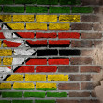 Dark brick wall with plaster - Zimbabwe — Stock Photo #53502487