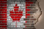 темная кирпичная стена с гипсом - канада — Стоковое фото