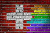Mörk vägg - hbt-rättigheter - schweiz — Stockfoto
