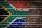 Dark brick wall - South Africa — Zdjęcie stockowe