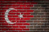 Dark brick wall - Turkey — Zdjęcie stockowe