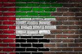 Dark brick wall - UAE — Stock Photo