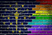 Dark brick wall - LGBT rights - Indiana — Stock Photo