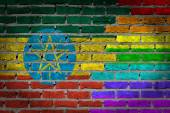 Dark brick wall - LGBT rights - Ethiopia — Foto Stock