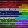 Dark brick wall - LGBT rights - Gambia — Stock Photo #54263385