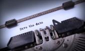старинные надписи, сделанные старая пишущая машинка — Стоковое фото
