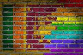 Dark brick wall - LGBT rights - Sri Lanka — Stock Photo