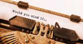 ビンテージ タイプライター — ストック写真