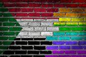 Dark brick wall - LGBT rights - Sudan — Stock Photo