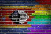 Dark brick wall - LGBT rights - Swaziland — Stock Photo