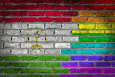 Dark brick wall - LGBT rights - Tajikistan — Stock Photo