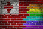 Dark brick wall - LGBT rights - Tonga — Stock Photo