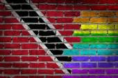 Dark brick wall - LGBT rights - Trinidad and Tobago — Stock Photo