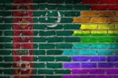 Dark brick wall - LGBT rights - Turkmenistan — Stock Photo