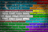 Dark brick wall - LGBT rights - Uzbekistan — Stock Photo