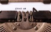 古いタイプライターで作られたビンテージの碑文 — ストック写真