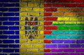 Темные кирпичные стены - права Лгбт - Молдова — Стоковое фото