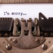Vintage inscription made by old typewriter — Stock Photo #55164995