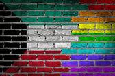 Dark brick wall - LGBT rights - Kuwait — Foto de Stock