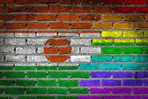 Dark brick wall - LGBT rights - Niger — Stock Photo