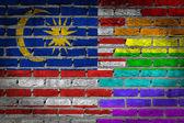 Dark brick wall - LGBT rights - Malaysia — Stockfoto